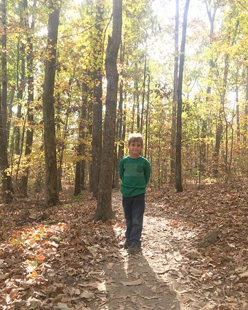 Rainbow Mountain Trails : My 6 year old on the Rainbow trail in November