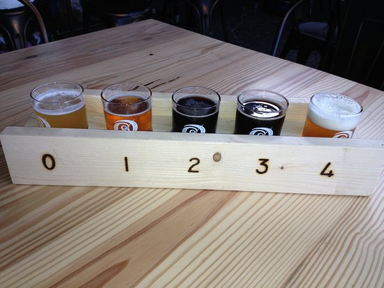Waynesboro, VA: flight of 5 craft beers at Basic City Beer