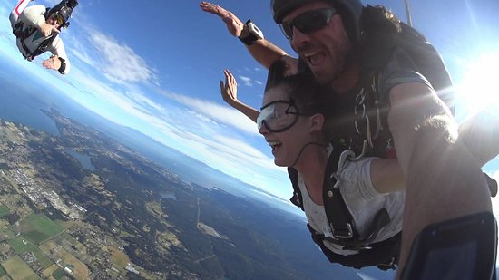 North Saanich, Canada: A tandem skydive over the Saanich Peninsula on Beautiful Vancouver Island