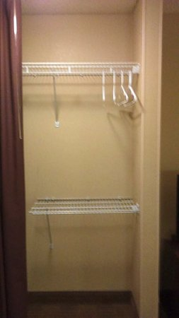 Extended Stay America - Sacramento - White Rock Rd.: go buy hangers before you arrive or put everything in the drawers