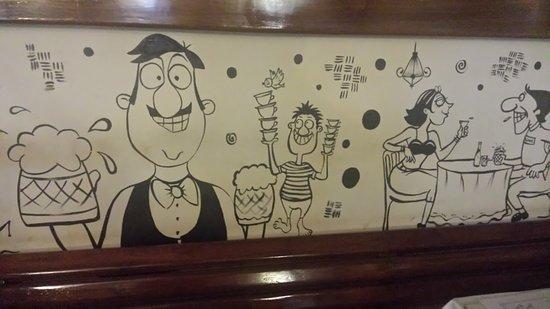 Mocambo Cafe: Mario Miranda's mural