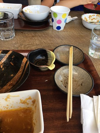 Parkwood, Australia: Absolutely beautiful food as you can see on the photo as no a thing was left, the best Japanese
