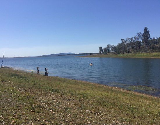 Outlook from our camp site  - Picture of Wivenhoe Dam, Brisbane