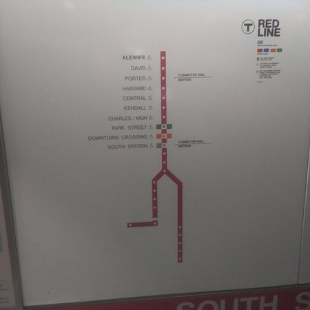 Subway Map MBTA Picture of Massachusetts Bay Transportation