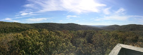 Branson West, MO: View from the observation tower on the nature trail.