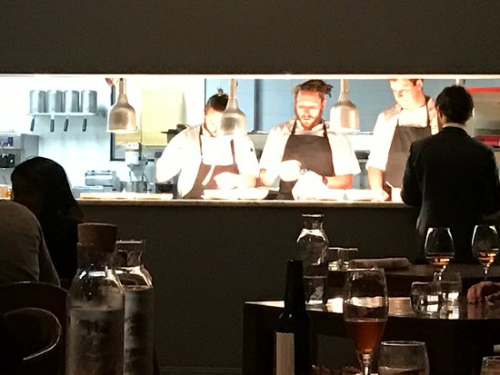 Busy Kitchen very busy kitchen production line - picture of biota dining
