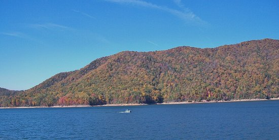 Butler, TN: Watauga Lake view from Watauga point in late October