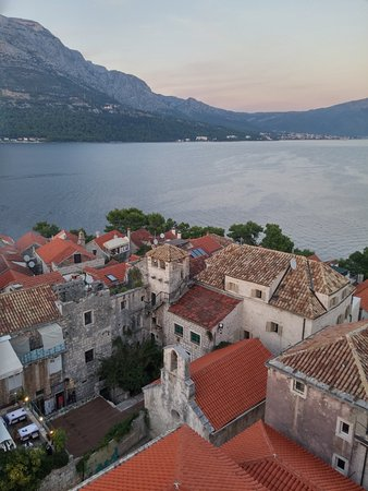 Korcula Town, Croazia: Incredible view from the bell tower.
