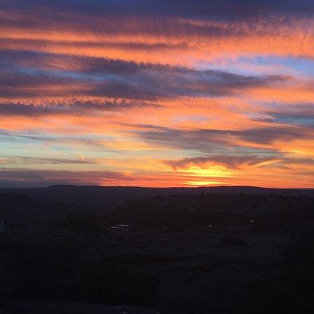 Kykotsmovi Village, AZ : Sunset near the Hopi Cultural Center