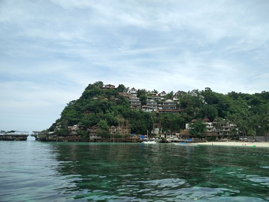 Nami Resort: View of the hotel from a boat
