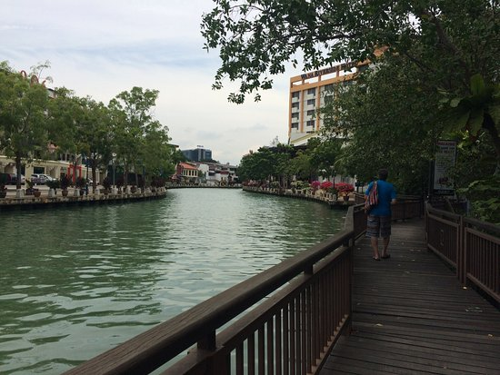 The Majestic Malacca: The riverwalk path within steps to the hotel