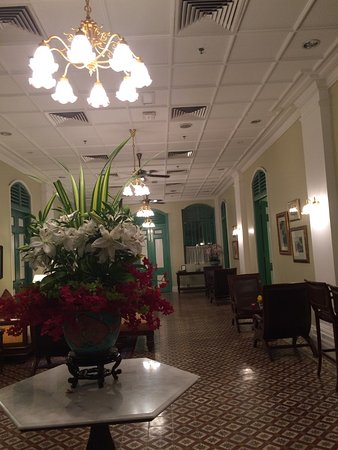The Majestic Malacca: Original porcelain tile throughout the main floor