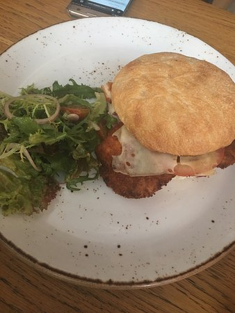 Chicken Schnitzel Sandwich Picture Of The Sum Of Us Dubai Tripadvisor
