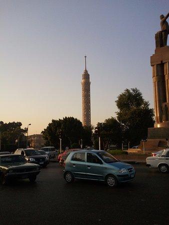 Zamalek (Gezira Island): Tower of Cairo on Zamalek (lotus flower shape)