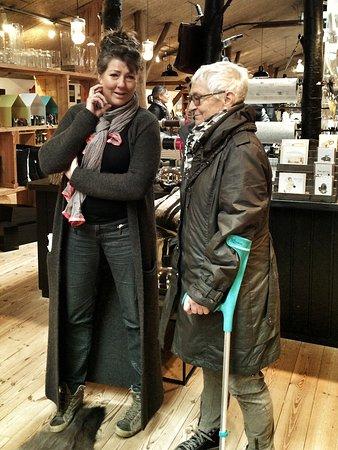 Aabenraa, Dania: Nina med en af vores kunder.