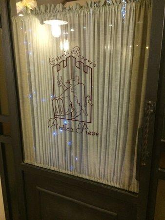 Pieve a Nievole, Włochy: ingresso del ristorante