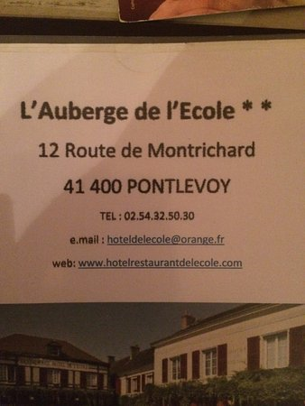 Auberge De L'ecole : This is the place to avoid