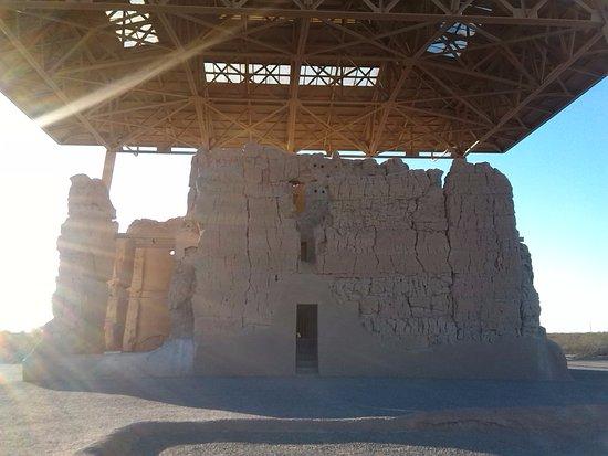 Coolidge, AZ: close up view of ruin