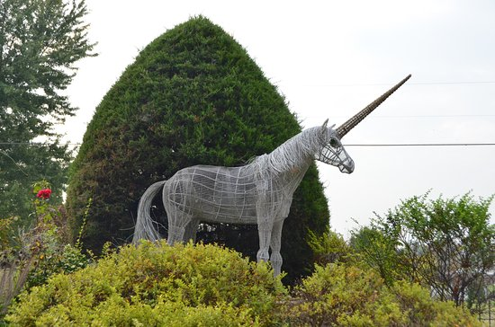 Carbondale, IL: Unicorn sculpture