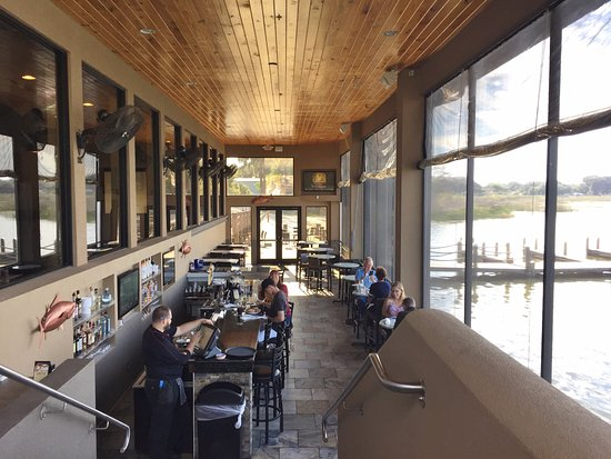 Waterlevel Dining Area Harborside Restaurant Winter Haven Fl