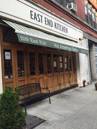 East End Kitchen New York City Upper East Side Menu