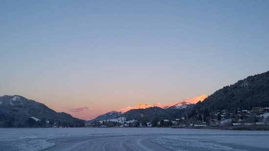 Weissensee, Austria: View from the ice