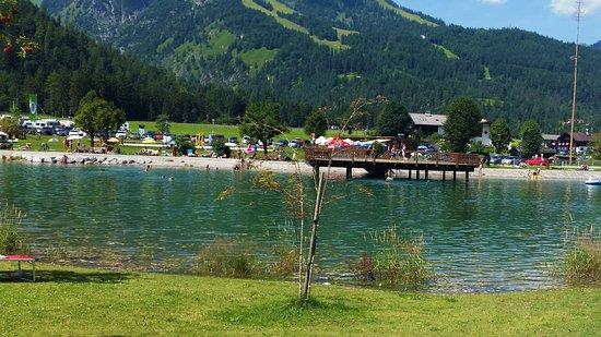 Achenkirch, Österrike: Blick auf den Badestrand