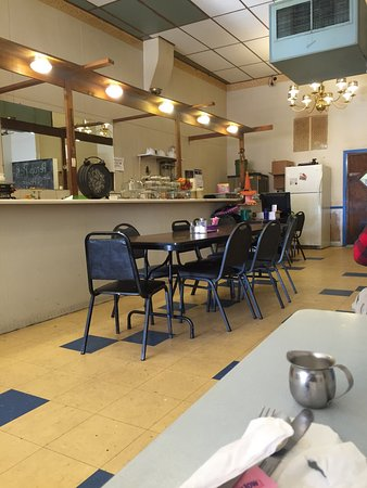 Keokuk, IA: Inside restaurant. Good food