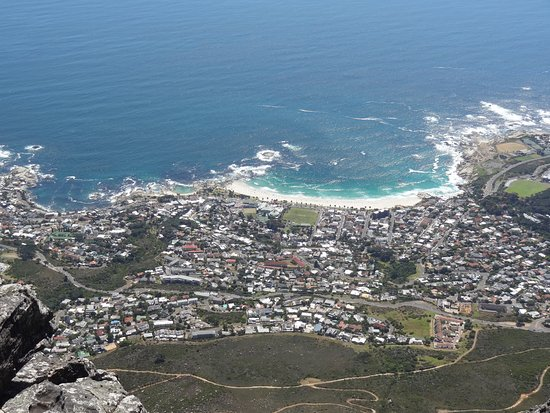 Cape Towns centrum, Sydafrika: Cape Town from the top of Table Mountain