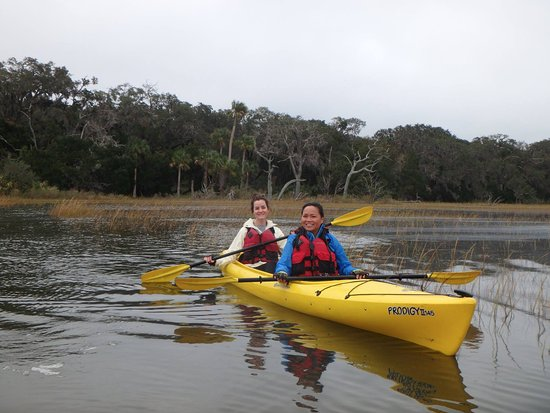 Fernandina Beach, FL: Kerri and I on the glass waters of Amelia Island.