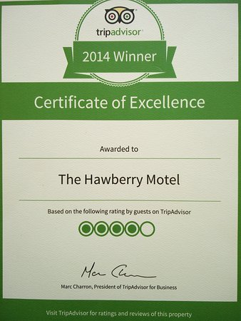 The Hawberry Motel: 2014 TRIPADVISOR