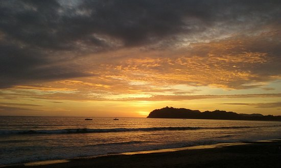 Fenix Hotel - On The Beach: Sunset from the Hotel Fenix bench.