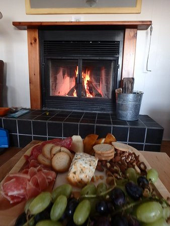 Southwest Nova Scotia, Canada: Snack time by an open fire!