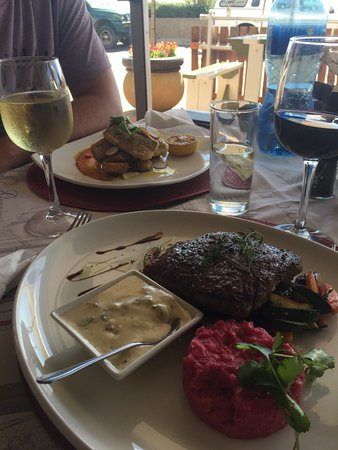 Gordon's Bay, South Africa: Top lunch met super Steak en Risotto
