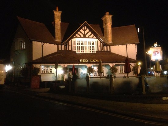 Radlett, UK: The entrance by night