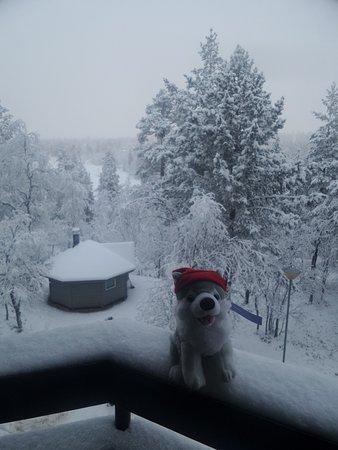 Lapland Hotel Riekonlinna: Tämmöinen hauvavauva oli huoneessa.