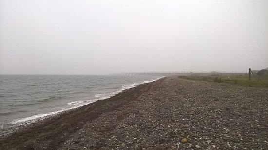 Западная Зеландия, Дания: Udsigt mod Fyn i tågen