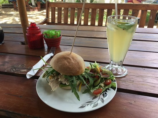 great sandwich and refreshing home-made lemonade