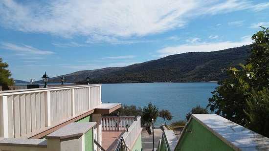 Marina, Croatia: View from the from stairs on the bay