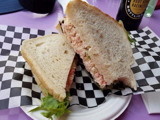 Jo-Ann's Deli Market & Bake Shop: Lobster Sandwich (Wish it had been half as tasty as it looked)