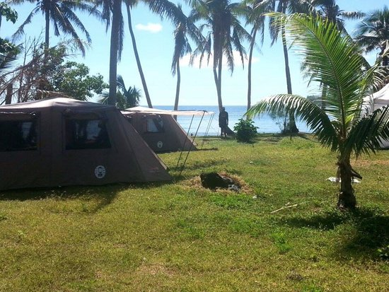 Matacawalevu Island, ฟิจิ: Tent layout