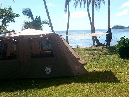 Matacawalevu Island, Fiji: Tent Layout