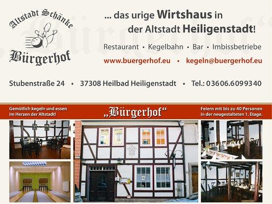Heilbad Heiligenstadt, Tyskland: www.buergerhof-Heiligentadt.de  ist unsere neue Webseite