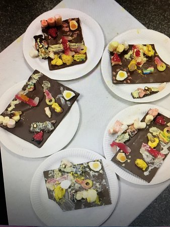 Chesham, UK: Children's Party - the finished chocolate