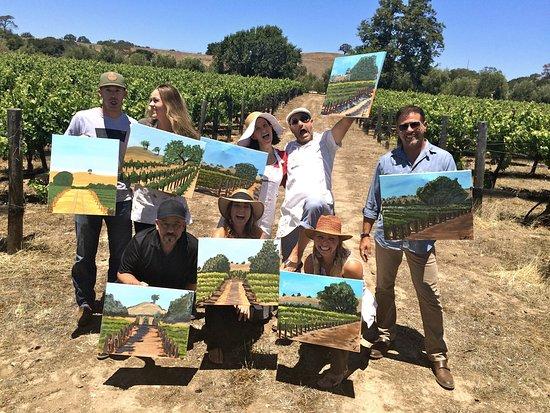 Santa Ynez, Καλιφόρνια: Happy Painters at Sunstone Winery!