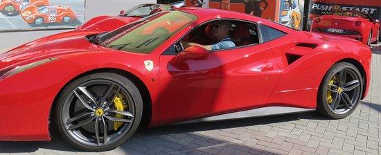Emilia-Romagna, Italia: Arranged to drive this Ferrari adjacent to the factory, but not part of the Ferrari museum.