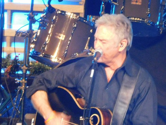 Dick Clark's American Band Stand Theater: close-up of Larry Gatlin singing