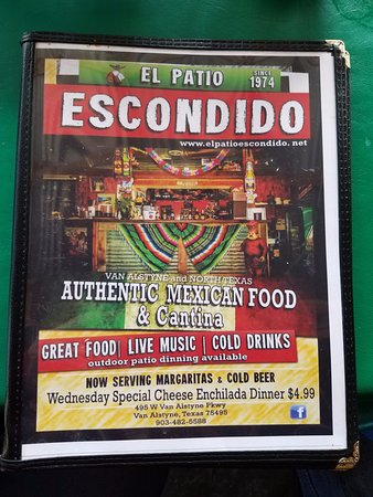 Amazing El Patio Escondido Mexican Restaurant: Menu Full Of Goodness