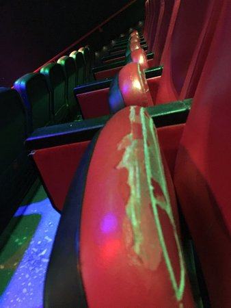 Yonkers, NY: Torn seats in 4D theater.