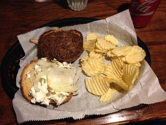 Superior, WI: Olive cream cheese burger